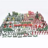 330pcs Militär Plastikmodell Spielset Spielzeugsoldaten Figuren & Zubehör Kid Toys