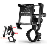 GUB PLUS 11 360° Rotation Outdoor Vlog Recording Aluminum Alloy Motorcycle Bicycle Handlebar Mobile Phone Holder Stand for Devices between 6-10cm Width