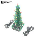 EQKIT CTR-32 Kit albero di Natale con controllo audio Indicatore di livello Kit fai da te Luci dello spettro Controllo vocale Parti dell'albero di Natale Regali di Natale