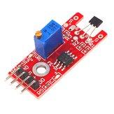 3 piezas KY-024 Interruptores magnéticos lineales de 4 pines Sala de conteo de velocidad Sensor Módulo Geekcreit para Arduino - productos que funcionan con placas oficiales Arduino