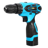 16.8V Li-ion Battery Cordless Electric Screwdriver Power Drill Two-Speed Drive Bit Set