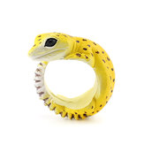 Cute Creative Animal Dorable Gecko Resina Fingerings Acessórios Unisex