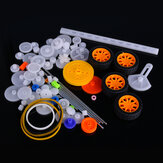 78pcs Plastic Motor Gear Kit DIY Gear Assortment Accessories Set With Various Gear And Axle Belt Bus