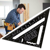 7/12inch Woodworking Triangle Ruler Angle Carpentry Measuring Tool Aluminium