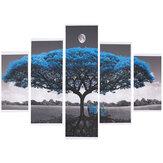 5 piezas grandes árboles lienzo pinturas pared impresión decorativa imágenes artísticas sin marco colgante de pared decoraciones de oficina en casa