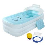 160x84x64cm Faltbare aufblasbare PVC-Badewanne mit Luft Pumpe Multifunktionales Gesundheitsbad