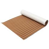 300 سم × 90 سم × 6 مم إيفا رغوة فو خشب الساج ورقة البني مع خطوط سوداء قارب اليخوت خشب الساج الاصطناعية