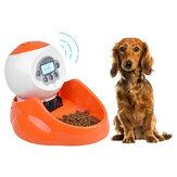 para cães Gatos e animais pequenos [LCD Painel de exibição] 35 onças Animais de estimação Alimentador automático de animais de estimação Dispensador de alimentos