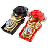 Red and Black High Current Battery Clips Car Terminal Block Piles with Insulated Sheathed