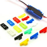 20PCS URUAV Servo Extension Cable Buckle Clip Plastic Servos Cord Fastener Jointer Plugs Fixing Holder Colorful for DIY RC Airplane Parts
