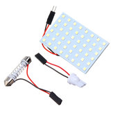48-SMD 1210 LED Dome Pannello luci T10 Festone BA9S Car Interior Reading lampada 4,8W Bianco