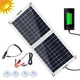 60W flessibile solare Pannello pieghevole Batteria Kit caricabatterie da casa 5V USB per telefono 12V per auto barca camper escursionismo all'aperto campeggio viaggio