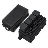 12V 80A 12 Way Blade Fuse 4 Way Relay Box Holder Assembly For Auto Car RV Boat