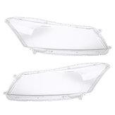 2-teilige Autoscheinwerfer-Scheinwerfer-Objektivabdeckungen links und rechts für Honda Accord 2008-2012