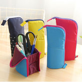 Sacos de lápis multifuncionais Creative Standing Stationery Bag