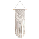 Woven Macrame Plant Hanger Wall Hanging Bohoes Wall Art with Tassels Home DIY Hanging Craft Decorations