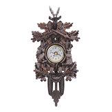 Veado,florestapreta,decoração,lar,café, arte, chique, balanço, vindima, cuco, parede Relógio