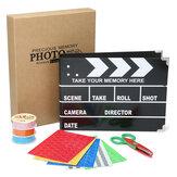 Fıçı Tahtası Pano DIY Stern Scrapbooking DIY Fotoğraf Albümü Kart Kağıt Zanaat Depolama Ile Kutu