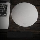 Inphic PD22 Muismat Aluminiumlegering Waterdichte metalen legering Ronde harde tafelmat MousePad voor gaming op kantoor