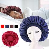 Cobertura de cabeça ajustável Sleep Night Chapéu para cacheado Springy Cabelo Acessórios de estilo para Lady Sleep Cap Headwrap