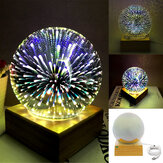3D USB Magic Ball Glass Ball Sphere Lightning Lamp Night Light Party Festival Firework