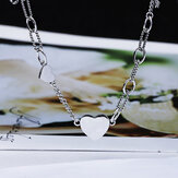 SHENLIN S925 Silver Necklace Female Tide Simple Cold Style Temperament Clavicle Chain Girl Wild Necklace