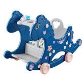 4 в 1 Детские Многофункциональные качалки Лошадь Игрушка-качалка Лошадь Сиденье Назначение Детские игрушки для детей от 1 до 6 лет
