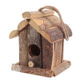 Винтажное деревянное гнездо для птиц Коробка Маленькое гнездо для диких птиц Сад Украшение