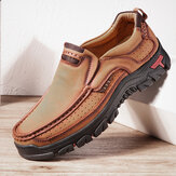Hombres Piel Genuina vendimia Casual Business Office Soft Mocasines para caminar