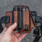 EDC Belt Loop Waist aus echtem Leder Multitool Sheath Belt Bag Taillentasche