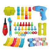 211 шт. DIY электрические Дрель Отвертка игрушки гайка разборка 3D головоломка детские развивающие игрушки подарок