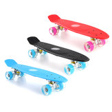 22'' LED Light Up Fish Skateboard 4 PU Wheel Single Warping Board Teenagers Kids Skateboard