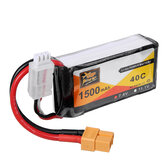 5Pcs ZOP Power 7.4V 1500mAh 40C 2S Lipo Battery XT60 Plug