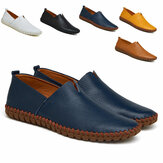 UK Männer Slip On Casual Boat Driving Loafers Echtes Leder Soft Moccasins Casual Hiking Super Light Schuhe