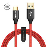 BlitzWolf® AmpCore Turbo BW-TC10 3A Braided Durable USB 3.0 to Type-C Charging Data Cable 6ft/1.8m