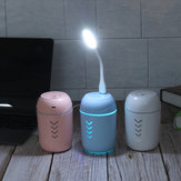 3 In1 Mini Air Humidifier Steam Aroma w / USB Fan LED ضوء Purifier Diffuser