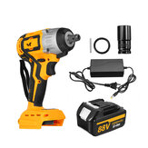 10000mAh Brushless Wrench Adapted TO 18V Makita Battery Cordless Impact Wrench Power Wrench With 1 Battery 1 Charger