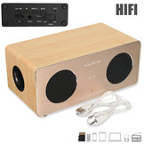 Vivavoce Dual MIC in legno AUX HIFI Altoparlante wireless Bluetooth per iPhone Samsung