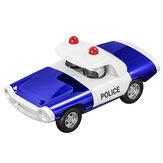 Ötvözet rendőrség visszahúzza öntött autó modell játék ajándékgyűjtemény otthoni dekoráció