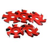 75-100mmÇap16mmDelikKırmızıAltıgen Bıçak Güç Ahşap Oyma Disk Açı Öğütücü Eki