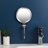 Espejo antivaho de baño Potente ventosa Espejos de ducha de baño Espejo de afeitar para hombre con soporte para afeitadora