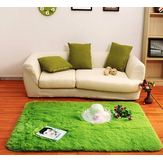 70x140cm Bedroom Living Room Soft Shaggy Anti Slip Carpet Absorbent Mat
