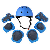 7pcs Children Helmet Elbow Knee Hand Pads Kids Sports Protective Gear For Motorcycle Riding Cycling Skating Skateboard Bike