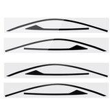 2szt. Rama okna Naklejki Naklejki Tapicerka do Honda Civic Coupe 2 drzwi