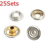 25sets fixation en acier inoxydable bouton stud pression de presse set marine 100pcs