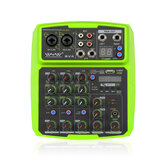 WENYANWEN Mini 2 Channel USB Delay and Repeat Efferts Audio Mixer Console With Bluetooth