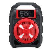 Portátil 9 W Bluetooth Speaker Sem Fio Colorful Luz Hi-Fi Stereo Handsfree Ao Ar Livre Fone de Ouvido Com Suporte de Microfone FM TF USB AUX