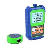2 em 1 medidor de energia óptica testador de cabo de rede com RJ45 testador de fibra óptica auto-calibração com 6 comprimentos de onda