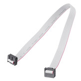 2.54mm FC-10P IDC Flat Grey Cable LED Tela conectada ao cabo de download JTAG
