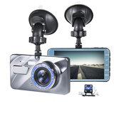 4 pouces 1080P voiture DVR Dash Cam enregistreur vidéo avant + caméra arrière double objectif LCD